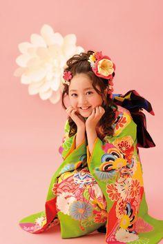 Cute!Kimono little girl