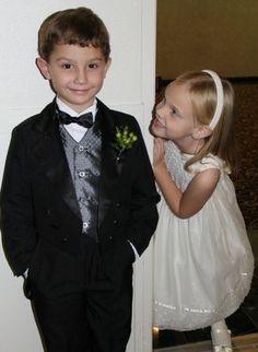 Flower girl and ring bearer from @Rachel Stone's wedding, 11-5-11