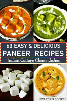 Did you know that paneer can be used to make so many delicious dishes? Check out these paneer recipes & try them out for a restaurant quality dinner at home. (Indian cottage cheese recipes) Easy Paneer Recipes, Indian Paneer Recipes, Goan Recipes, Veg Recipes, Curry Recipes, Indian Food Recipes, Vegetarian Recipes, Dinner Recipes, Cooking Recipes
