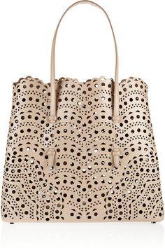 ALAÏA Laser-cut leather tote   Cynthia Reccord Azzedine Alaia, My Bags,  Purses 939c9e51e1a