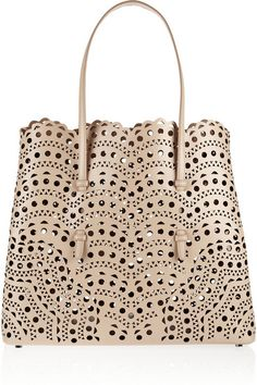 { Laser-cut Leather Tote }