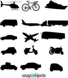 Free vector transportation download - use to make a matching game, bingo cards, or flashcards for learning games