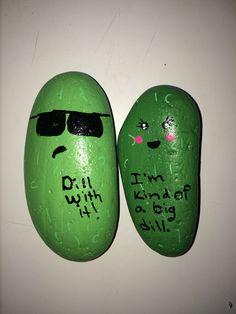 Pickles painted rocks