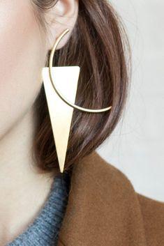 Jamie earring / silver Contour studio #jewelrytrends