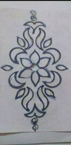 Hand Embroidery Design Patterns, Hand Embroidery Dress, Border Embroidery, Flower Embroidery Designs, Doodle Patterns, Embroidery Hoop Art, Embroidery Stitches, Wall Painting Decor, Fabric Painting
