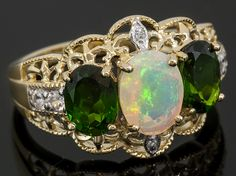 Opal and Chrome Diopside the perfect October birthstone gift!