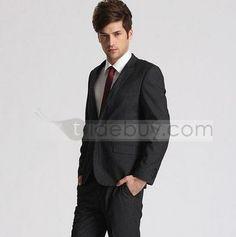 Plain One Button Superlite Slim Fit Suit (Two Piece Set) : Tidebuy.com