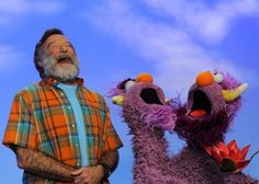 Robin Williams with puppets