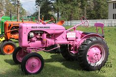 This pink tractor is for a true country girl!