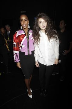 "Kelly Rowland and Lorde backstage at ""The GRAMMY Nominations Concert Live!! — Countdown To Music's Biggest Night"" on Dec. 6 in Los Angeles"