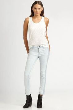 rag & bone Embroidered Skinny Jeans, $286, available at Saks.