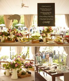 I love the idea of of a BBQ style wedding dinner, completely casual.