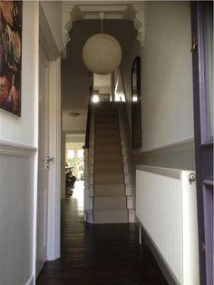 Entrance hallway home victorian hallway, victorian terrace h Modern Victorian, Victorian Homes, Hallway Inspiration, Hallway Ideas, Staircase Ideas, Victorian Terrace Hallway, Grey Woodwork, Pavilion Grey, Hallway Colours
