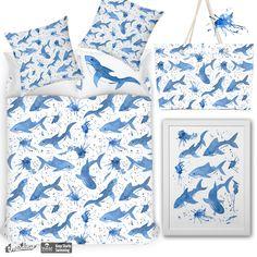 Watercolor sharks on Threadless  #pattern #watercolor #print #sharks #sharksprint #Threadless  #wall