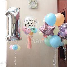 Awww Happy first birthday na ka Milin วันเกิดน้องมิลินครั้งแรก ต้องฉลองให้เจ้าตัวเล็ก ขอบคุณคุณแม่นุ้ยที่อุดหนุน @balloonhubb นะค้า ______________________________________________________  BalloonHubb ตามใจลูกค้ายิ่งกว่าแฟน!! แม่ค้าใจดีมากกก แอดไลน์เลยค่า หรือโทรมาคุยก้อได้น้า~☺️ ••••   : @ hiballoonhubb (มี @ ด้วยนะคะ) ••••••••• ☎  : 086.533.8383•••••••••••••••••••••••••••    ส่ง 24 ชม (เฉพาะกทม&ปริมณฑล ค่ะ) ••••••••••  IG : BalloonHubb••••••••••••••••••••••••... Big Balloons, Birthday Balloons, Birthday Fun, First Birthday Parties, First Birthdays, Balloon Decorations, Baby Shower Decorations, Birthday Delivery, Unicorn Party Invites
