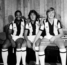 England Internationals Cyrille Regis, Gary Owen and Peter Barnes of West Bromwich Albion at the Hawthorns in West Bromwich, circa Get premium, high resolution news photos at Getty Images Retro Football, Football Kits, Football Soccer, Peter Barnes, Gary Owen, West Bromwich Albion Fc, Documentaries, Goal, England