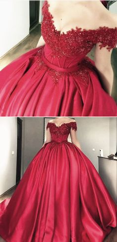 burgundy ball gowns wedding dress lace off shoulder