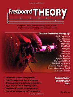 Fretboard Theory - Learn Guitar Theory, Scales, Chords, Progressions, Modes, Song Details and More. Music Theory Lessons For Acoustic and Electric Guitar. by Desi Serna, http://www.amazon.com/dp/B000H21RVC/ref=cm_sw_r_pi_dp_tCpRqb1DW4E8Z