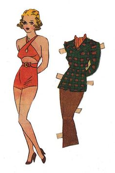 Paper doll -Margie, I love her suit.