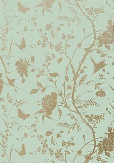 LIANG, <br />                                     Aqua with Metallic Gold, <br />                                     T36175, <br />                                     Collection Enchantment from Thibaut