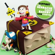 A Gravity Falls themed cake?!?! so, that means... It's delicious?