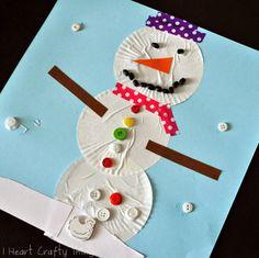 Cupcake Liner Snowman Craft