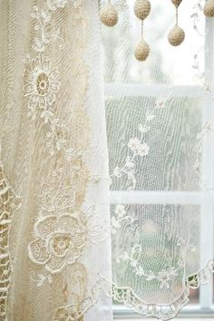 Lady Lacious,  lace curtain