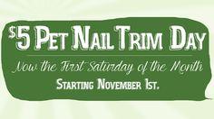 New $5 Pet Nail Trim Date