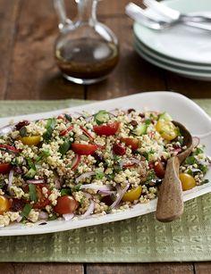 Bulgur wheat salad - New Site Healthy Dishes, Healthy Salad Recipes, Veggie Recipes, Vegetarian Recipes, Cooking Recipes, Healthy Meals, Healthy Eating, Veggie Meals, Savoury Recipes