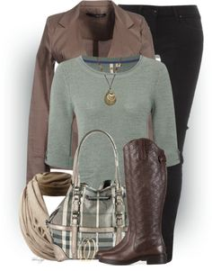 Front Tie Jacket Trendy Fall Outfit Idea