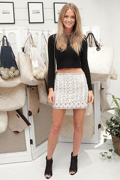 2 Rainy Hamptons Fêtes, 19 Inspired Outfits #refinery29  http://www.refinery29.com/hamptons-party-style#slide-14  Kate Bock remixes black and white.