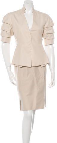 Cushnie et Ochs Sleeveless Mini Dress Skirt Suit Set, Cushnie Et Ochs, Fitted Skirt, Wool Dress, Suits For Women, Peplum Dress, Dresses For Work, Stylish, Mini
