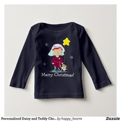 Personalised Daisy and Teddy Christmas Tees