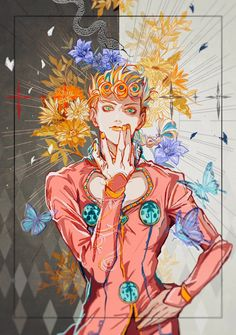 He's the child of sunshine, I swear. How else do you think Gold Experience can fix everything :) Jojo's Bizarre Adventure, Jojo's Adventure, Manga Anime, Anime Art, Jojo Anime, Jojo Parts, Jojo Memes, Fan Art, Jojo Bizarre