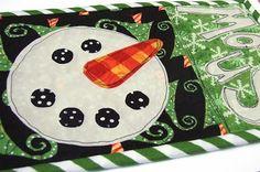 Snowman Mug Rug Pattern
