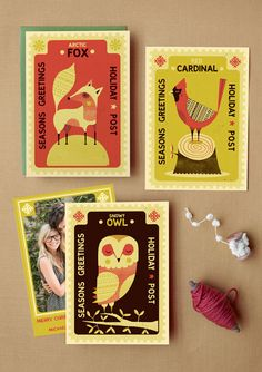 greeting cards. very cute. love the colors