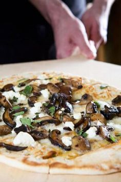 Wild Mushroom Flatbread with Goat Cheese and Fresh Herbs | Nugget Market Recipes