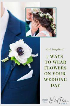 5 unique wearable flower ideas from The Barn of Chapel Hill for you to incorporate into your wedding day. Long gone are the days of boring boutonnieres and basic mothers' corsages, wearable flowers are truly an art form. Be inspired when you peek through the photo gallery!