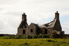 Derelict Cleat Mansion house, Sanday Orkney. Ancestral family home for over 400 yrs