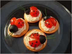 Ladybug crackers. So cute!