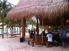 Buho's Swing Bar, Isla Mujeres, Mexico. Spent a great afternoon here after snorkeling on our Honeymoon!