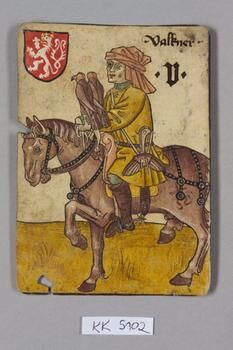 """Falkner [Falconer?] Böhmen [Bohemia], """"Hofämterspiel"""" für König Ladislaus…"""
