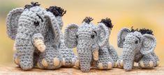 Elephants from Crochet a Zoo