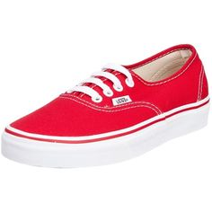 Vans - U Authentic Shoes In Red ($40) ❤ liked on Polyvore