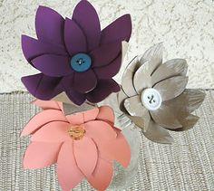 Flores com rolo de papel higiênico | Pra Gente Miúda