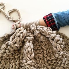 WEBSTA @ flaxandtwine - Custom order basketweave blanket in doe skin!! Love it 😍