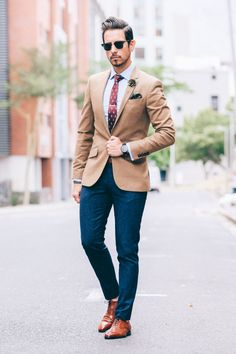 Fancy, Dapper, Men, Suited, Suits, Three Piece Suits, Brown Jackets, Ties, Pocket Squares, Leather Shoes, Brown, Shoes, Sunglasses, Menswear, Mens Style, Fashion, Mens Fashion
