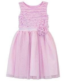 34c25d22470 Jayne Copeland Little Girls  Eyelash-Ruffle Tulle Dress Girls 4