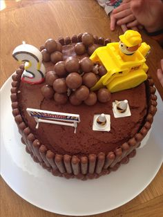 Paw Patrol. Rubble on the double cake.
