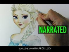 """How to Draw Elsa from """"Frozen"""" [Narrated Step-by-Step] - YouTube"""